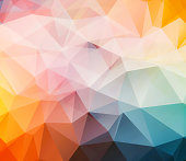 colorful triangular abstract 3d background