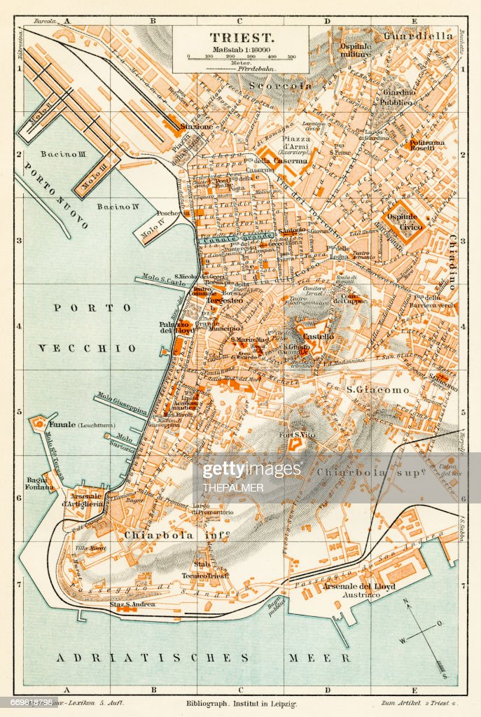 Trieste Italy Map Stock Illustration Getty Images - Trieste map
