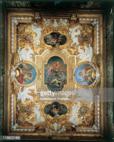 turin royal palace ceiling with the allegory of triumph of light