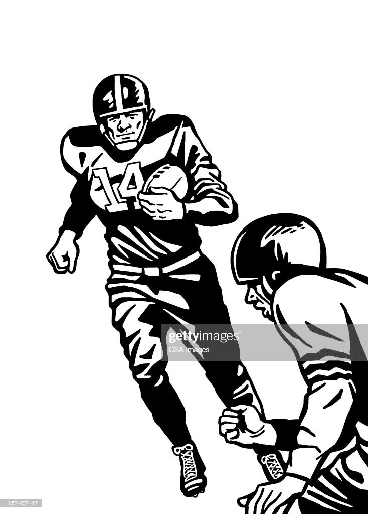 Two Football Players : Stock Illustration