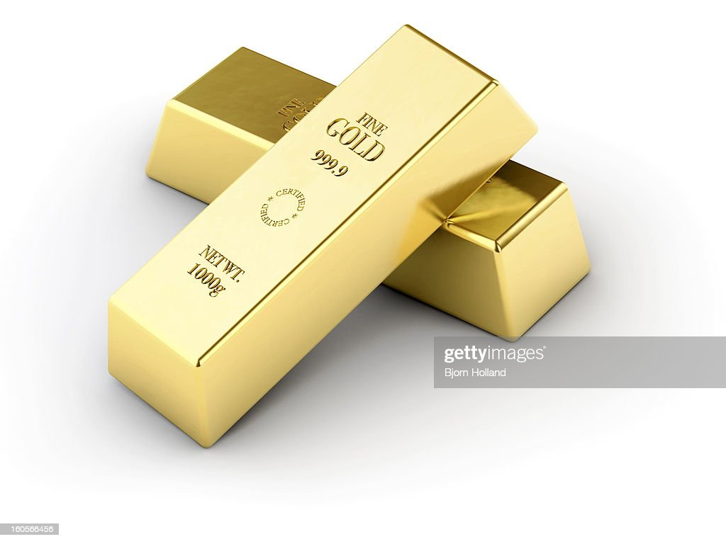 Two gold bars : Stock Illustration