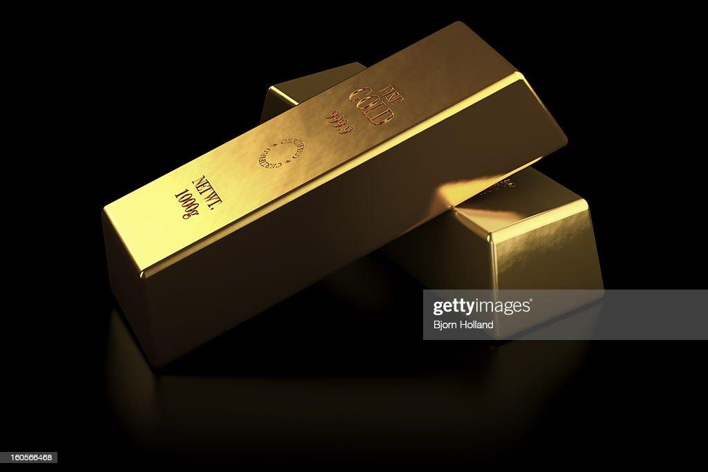 Two gold bars : Stock Illustration