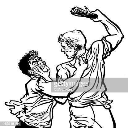Two Men Fighting Stock Illustration | Getty Images