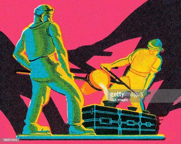 Two Men Working in a Steel Mill