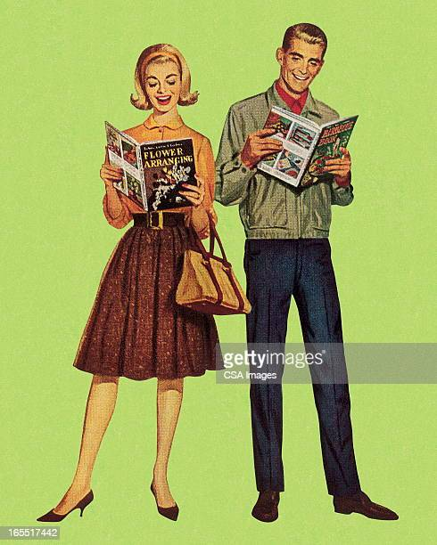 Two People Reading Hobby Books