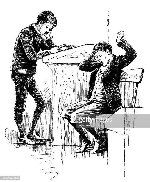 Two Victorian schoolboys