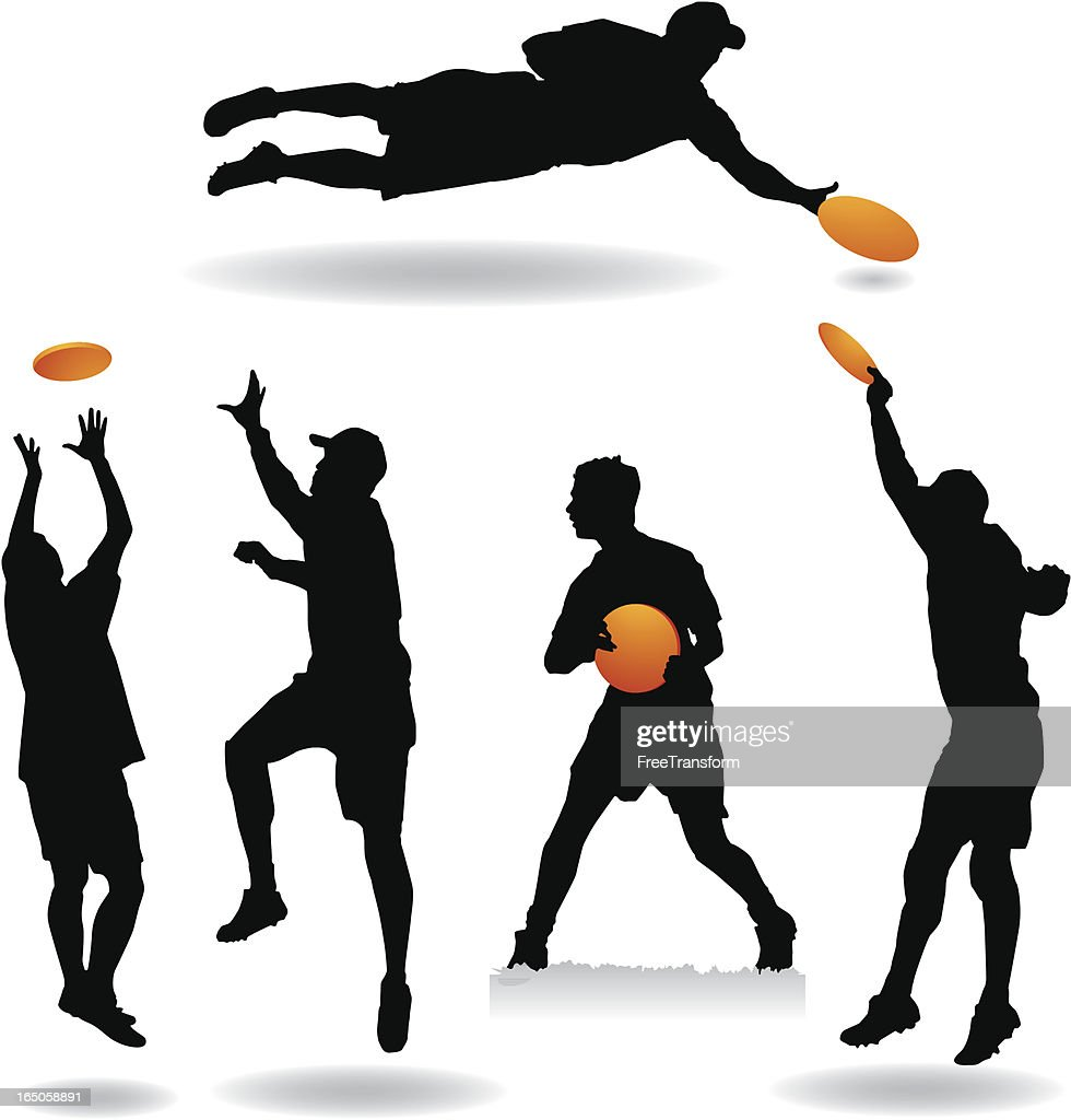 Ultimate Frisbee Silhouettes Vector Art | Getty Images