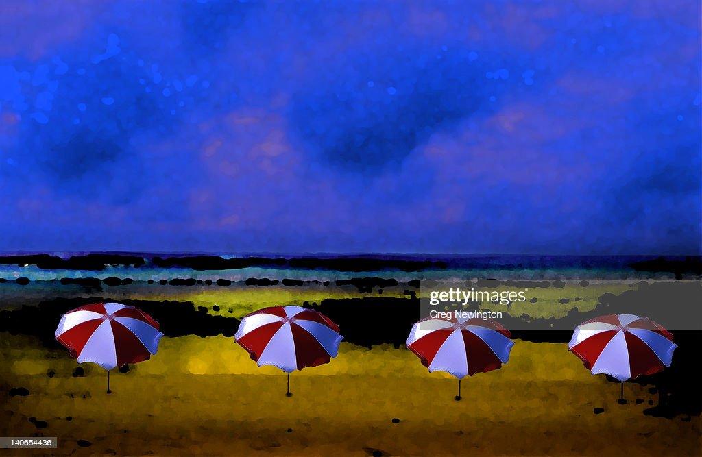 Umbrellas : Stock Illustration