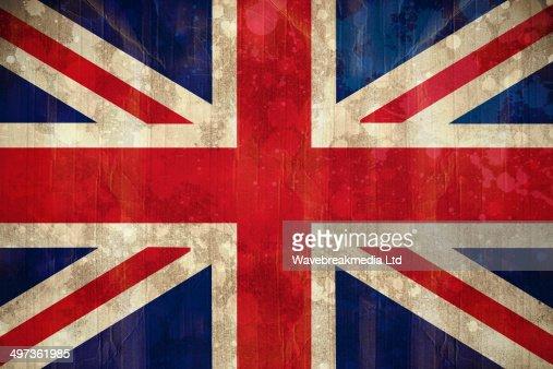 Union jack flag in grunge effect : Stock Illustration