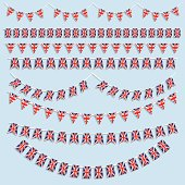 Collection of various different Union Jack flags and bunting.