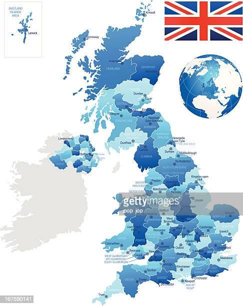 United Kingdom - detailed map