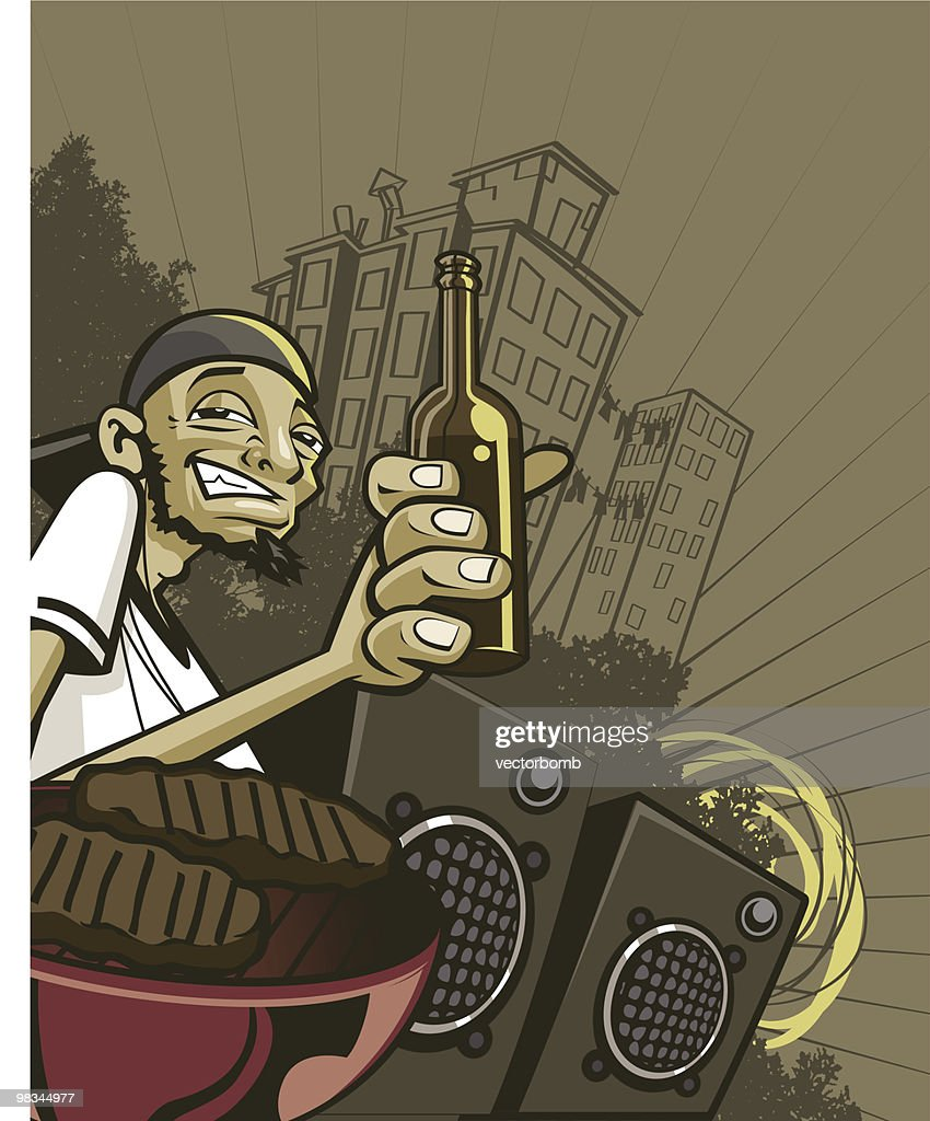 Urban Drinker : Vector Art