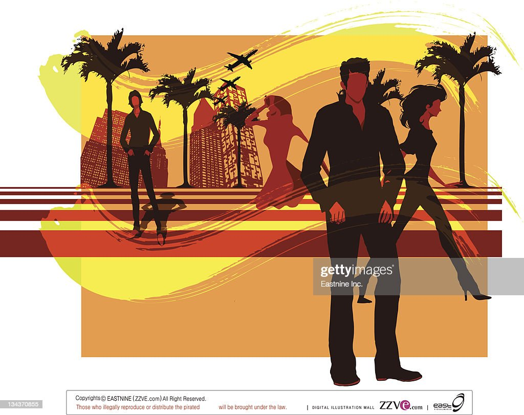 Urban people : Vector Art