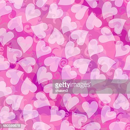 Valentines day romantic heart background in pink : Stock Illustration