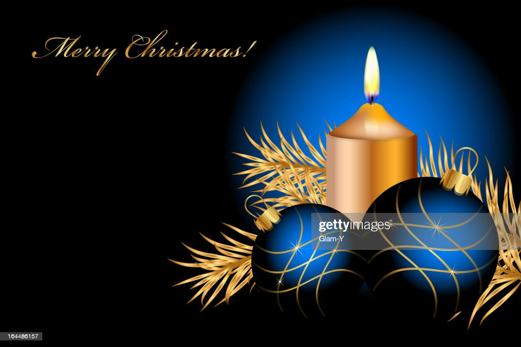 Vector blue and gold christmas background vector art for Blue and gold christmas
