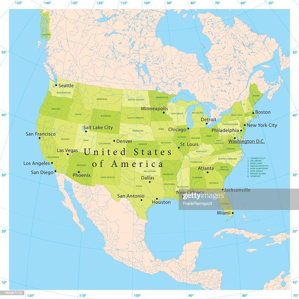 Usa Mexico Vector Map America Map Vector America Map North - Us mexico vector map