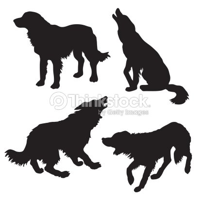 Vector silhouette of the dog on white background vector silhouette of the dog on white background voltagebd Gallery