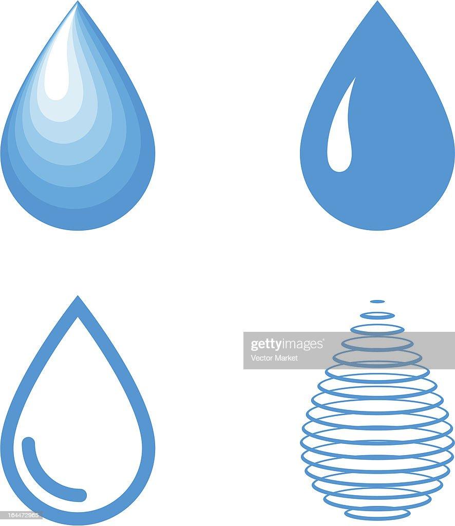 vector water drops icon set vector art thinkstock rh thinkstockphotos com free vector water droplet vector water droplet