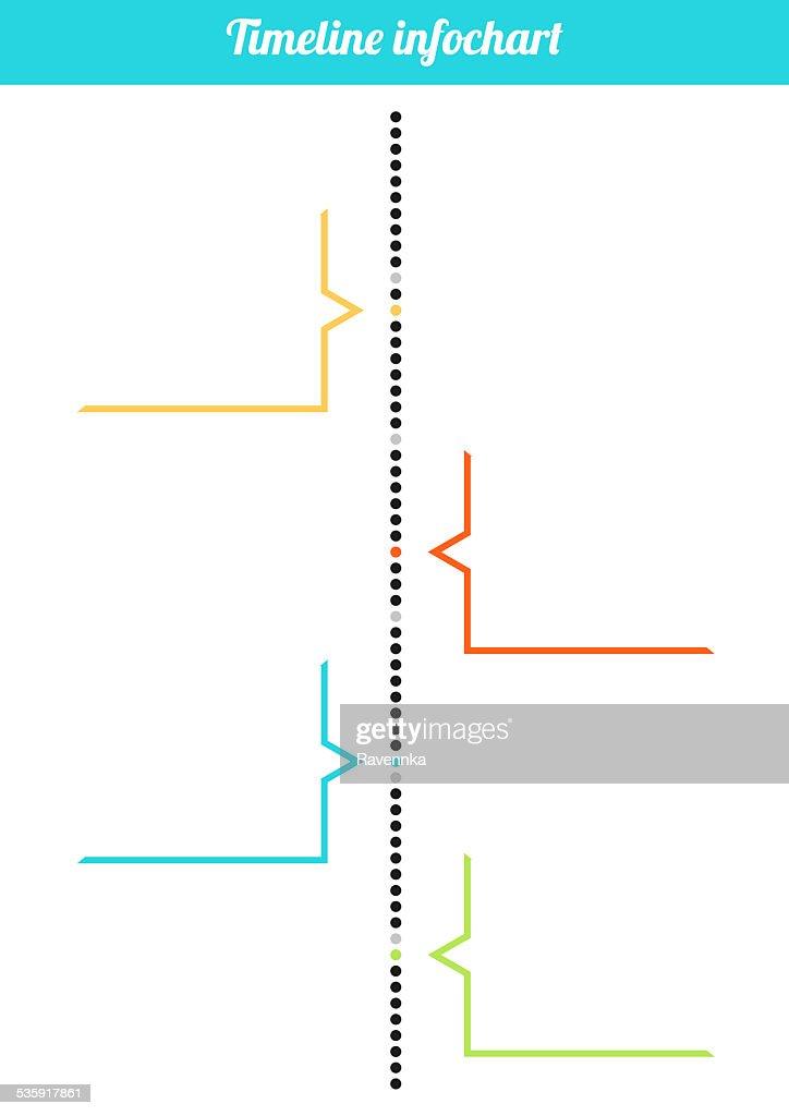 Calendário Vertical inforchart : Ilustração de stock
