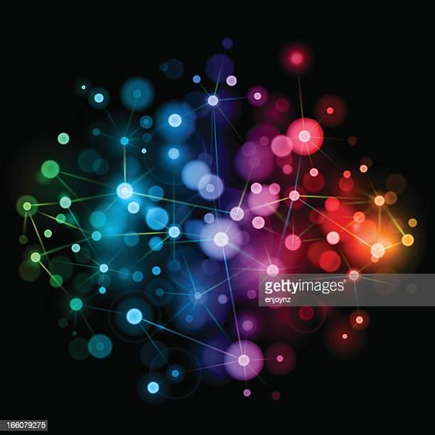 Vibrante conexiones de red