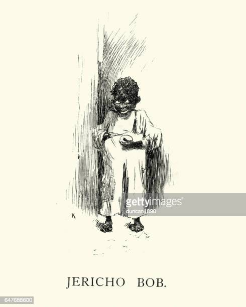 Victorian caricature of a african boy