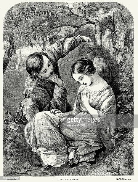 Victorian Couple Flirting - The First Whisper