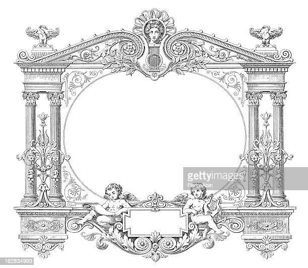 Style victorien, la comédie musicale-Gravure cadre Antique (XXXL)