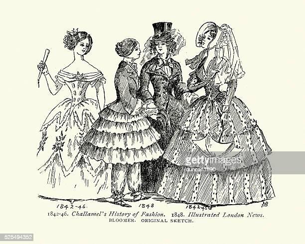 Mode femme victorienne du milieu du 19ème siècle