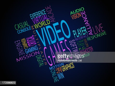 Video games terms together : Stock Illustration