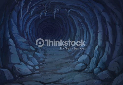 view from the inside of the cave ストックイラストレーション thinkstock