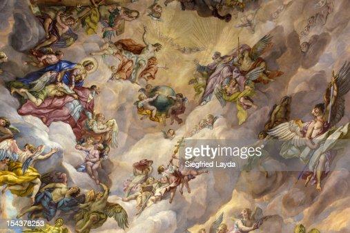 View of Fresco in the Karlskirche : Ilustração de stock
