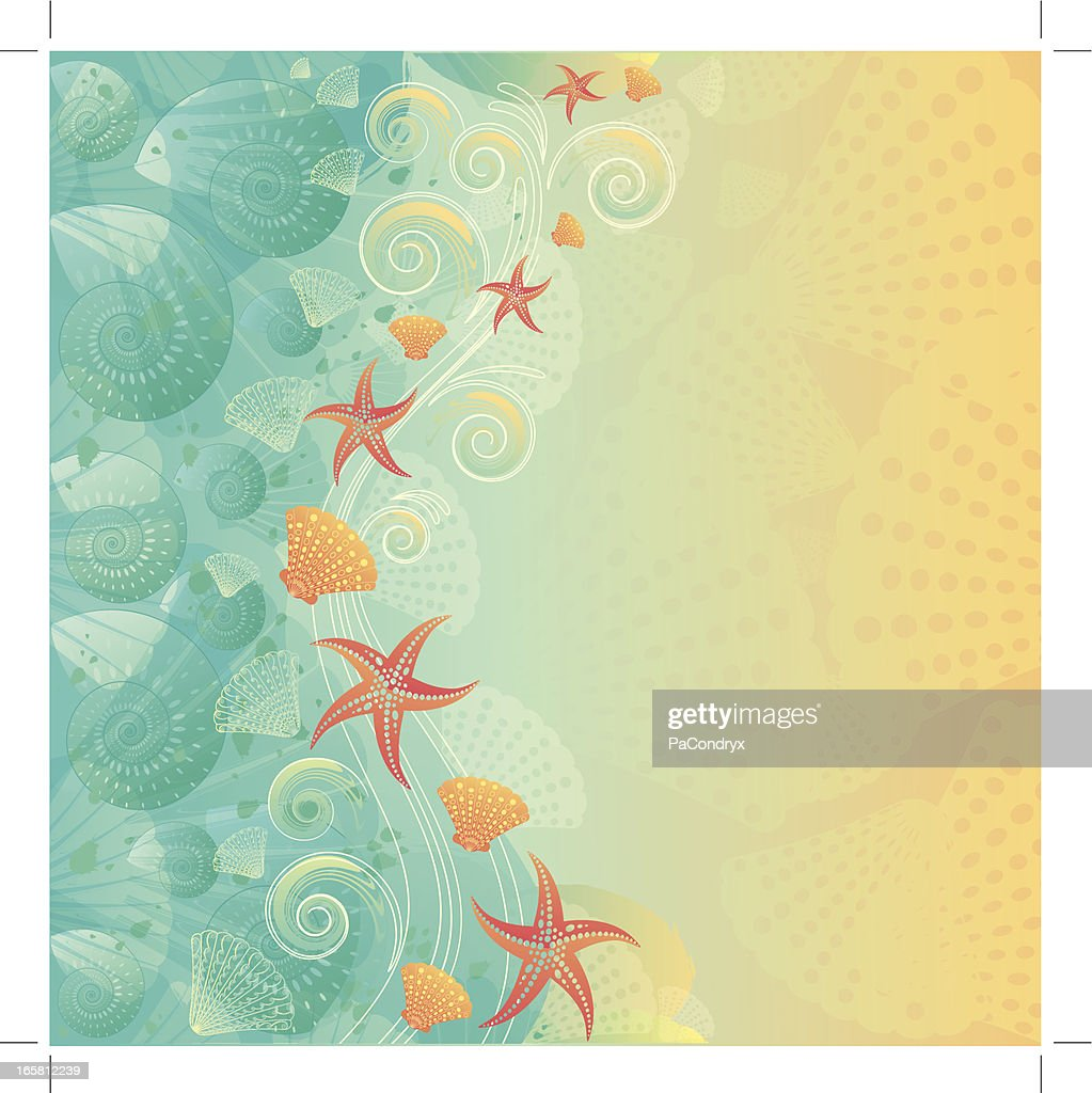 Vintage Abstract Beach Background Vector Art | Getty Images