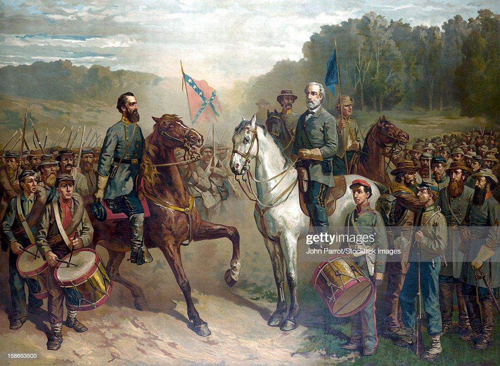 robert e lee coloring page - vintage civil war color painting of general robert e lee