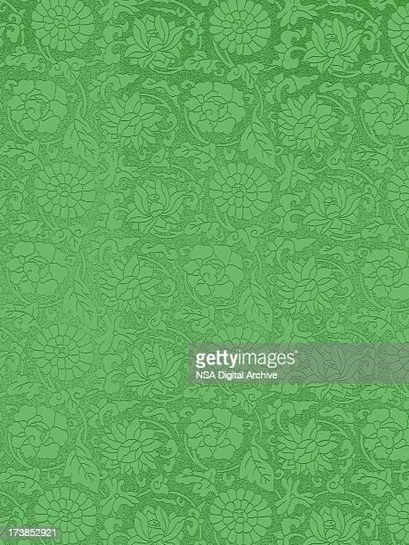 Vert Vintage papier peint
