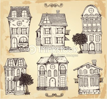 Vintage House Vector Art