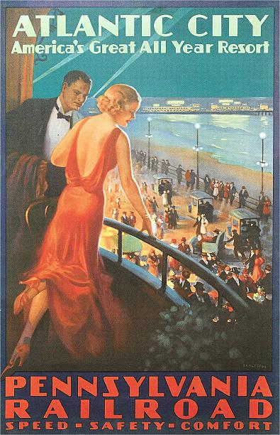 NJ: 26 June 1870: First Boardwalk Opens in Atlantic City