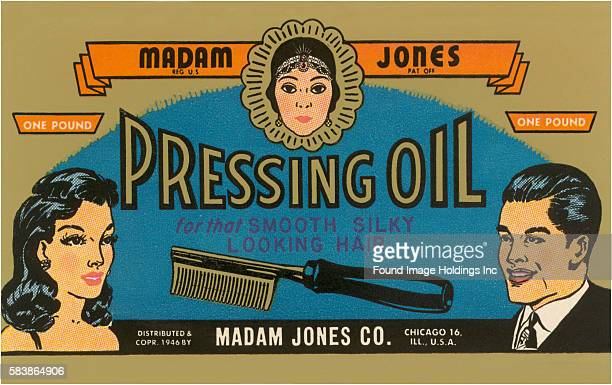 Pressing Oil Hair Tonic Label