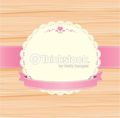 Vintage label invitation on wood vector frame pink vector art vintage label invitation on wood vector frame pink vector art stopboris Choice Image