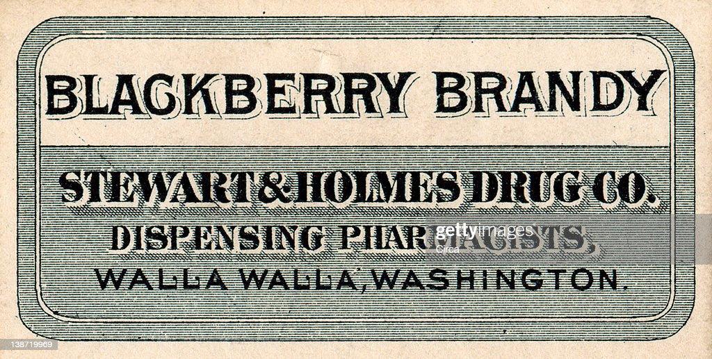 vintage medicine label : Stock Illustration