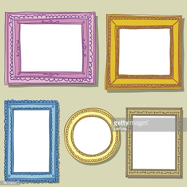Vintage ornate frame in sketch style