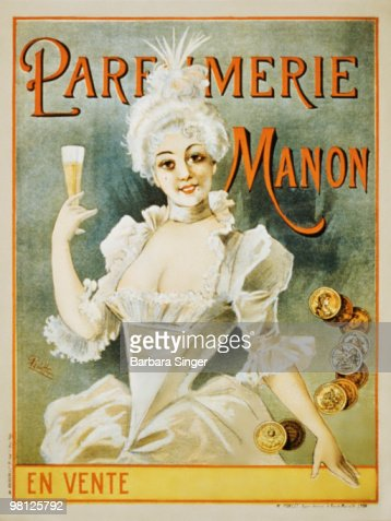Vintage poster of woman holding champagne flute : ストックイラストレーション