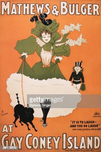 Vintage poster of woman wearing Victorian clothing : Stock Illustration