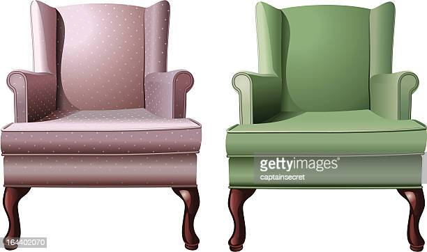 Vintage Wingback Armchairs