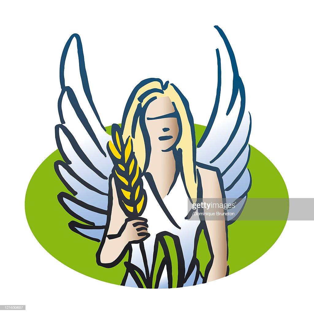 Virgo astrological sign, illustration : Stock Illustration