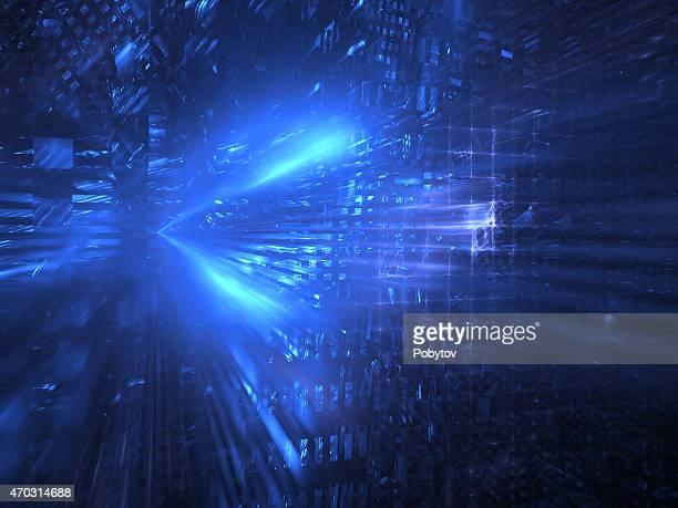 Virtual city light, technology background