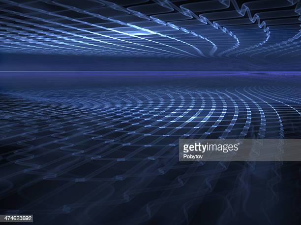 Virtual Space - abstract futuristic background