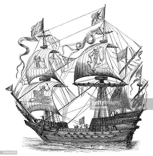 Warship of the sixteenth century