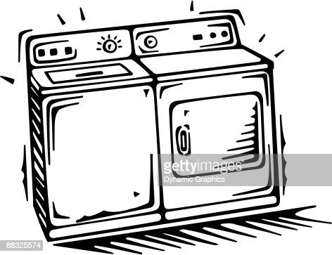 Washer And Dryer Clipart washer and dryer vector art | thinkstock