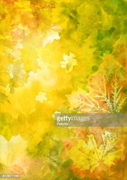 Fondo acuarela de otoño