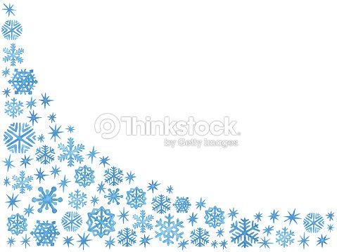 watercolor christmas and new year template with blue hand painted snowflakes and sparkles stock illustration